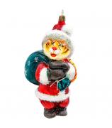 Елочная игрушка «Полосатый Дед Мороз»