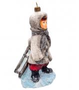 Елочная игрушка «Я за санками пошла»