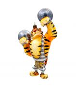 Елочная игрушка «Тигр атлет»