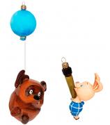 Набор елочных игрушек «Куда идём мы с пятачком»