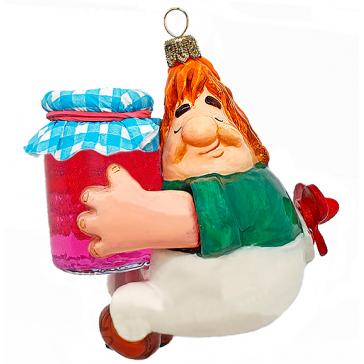 Коллекционная елочная игрушка «Не в варенье счастье», ручная работа