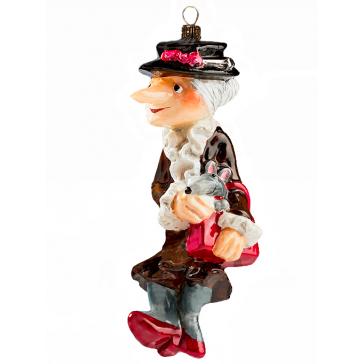 Коллекционная елочная игрушка «Не проходите мимо», производство Польша