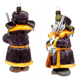 Набор елочных игрушек «Хозяин года» в деревянном ларце