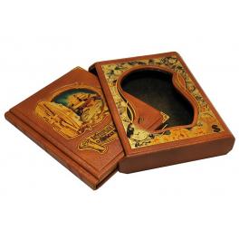 Кожаная книга «Мудрые мысли о деньгах и богатстве» в подарочном футляре