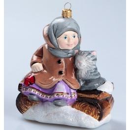 Елочная игрушка из стекла «Варенька на заваленке», Bombki, Польша