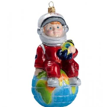 Ёлочная игрушка из стекла «Поехали!», Bombki, Польша
