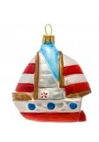 Елочная игрушка «Кораблик»