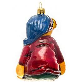 Елочная игрушка польского производства «Мишка Тедди», коллекция Bombki