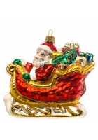 Елочная игрушка «Дед Мороз в санях»