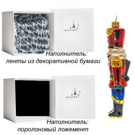Елочная игрушка «Щелкунчик», материал: стекло, производство Польша
