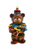 Елочная игрушка «Медвежонок с барабаном»