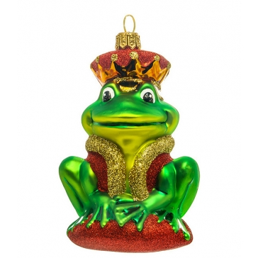 Елочная игрушка из стекла «Царевна Лягушка», BOMBKI, Польша