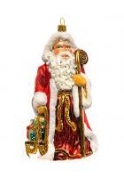 Елочная игрушка «Дед Мороз с посохом»