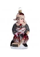 Елочная игрушка «Хоккеист дворовой команды»