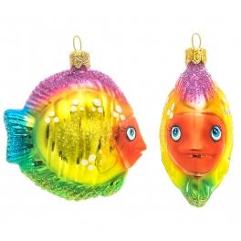 Елочная игрушка ручной работы «Радужная рыбка», производство Польша