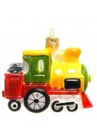 Елочная игрушка «Желтый паровозик»