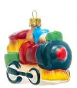 Елочная игрушка «Красный паровозик»