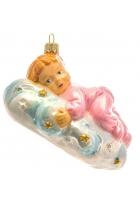 Елочная игрушка «Малышка на облачке»