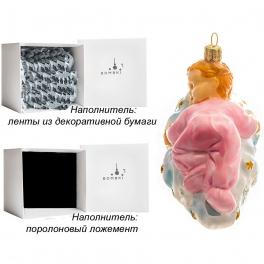 Елочная игрушка «Малышка на облачке», материал: стекло, производство Польша