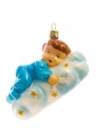 Елочная игрушка «Малыш на облачке»