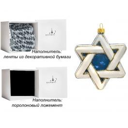 Елочная игрушка «Звезда Давида», материал: стекло, производство Польша