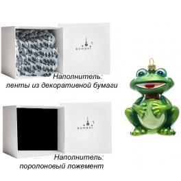 Стеклянная елочная игрушка «Лягушонок», ручная работа, производство Польша