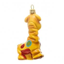 Елочная игрушка ручной работы «Жираф Пряник», производство Польша