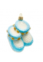 Елочная игрушка «Пинетки голубые»