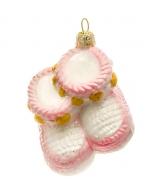 Елочная игрушка «Пинетки розовые»
