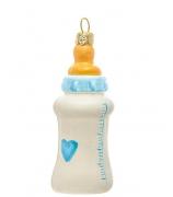 Елочная игрушка «Детская бутылочка голубая»