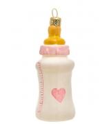 Елочная игрушка «Детская бутылочка розовая»