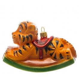 Елочная игрушка ручной работы «Качалка Тигр», производство Польша