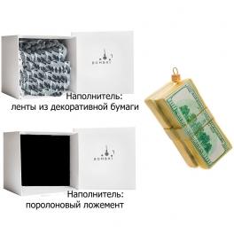 Елочная игрушка «Деньги», материал: стекло, производство Польша