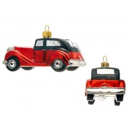 Елочная игрушка ручной работы «Красное авто», производство Польша