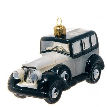 Елочная игрушка ручной работы «Белое авто», производство Польша