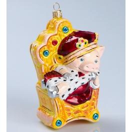 Стеклянная ёлочная игрушка «Царевич 2019 года!», Bombki, Польша