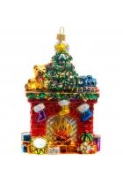 Елочная игрушка «Новогодний камин»