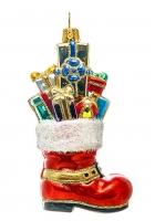 Елочная игрушка «Сапожок с подарками»