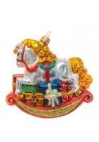 Елочная игрушка «Лошадка-качалка»