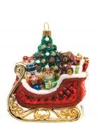 Елочная игрушка «Сани с подарками»