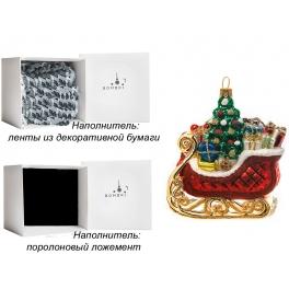 Елочная игрушка польского производства «Сани с подарками», коллекция Bombki