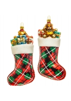 Елочная игрушка «Носок с подарками»