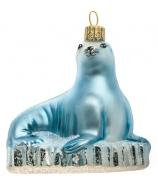 Елочная игрушка «Тюлень на льдине»