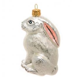 Елочная игрушка ручной работы «Зайчишка», производство Польша