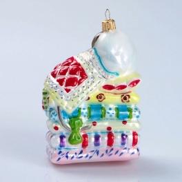 Елочная игрушка из стекла «Принцесса на горошине», Bombki, Польша