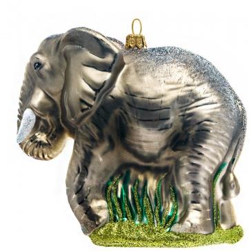 Елочная игрушка ручной работы «Слон», 12,5х11,5 см, производство Польша