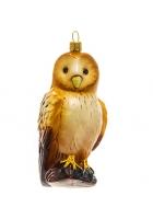 Елочная игрушка «Желтая сова»