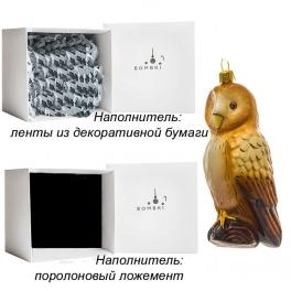 Елочная игрушка ручной работы «Желтая сова», производство Польша
