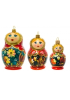 Набор елочных игрушек «Матрёшки»