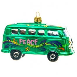 Елочная игрушка «Весёлый автобус», материал: стекло, производство Польша